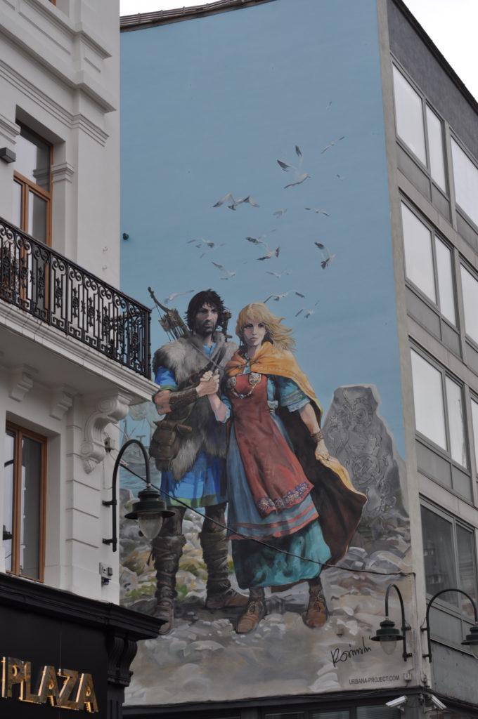 Fresque murale Thorgal et Aaricia