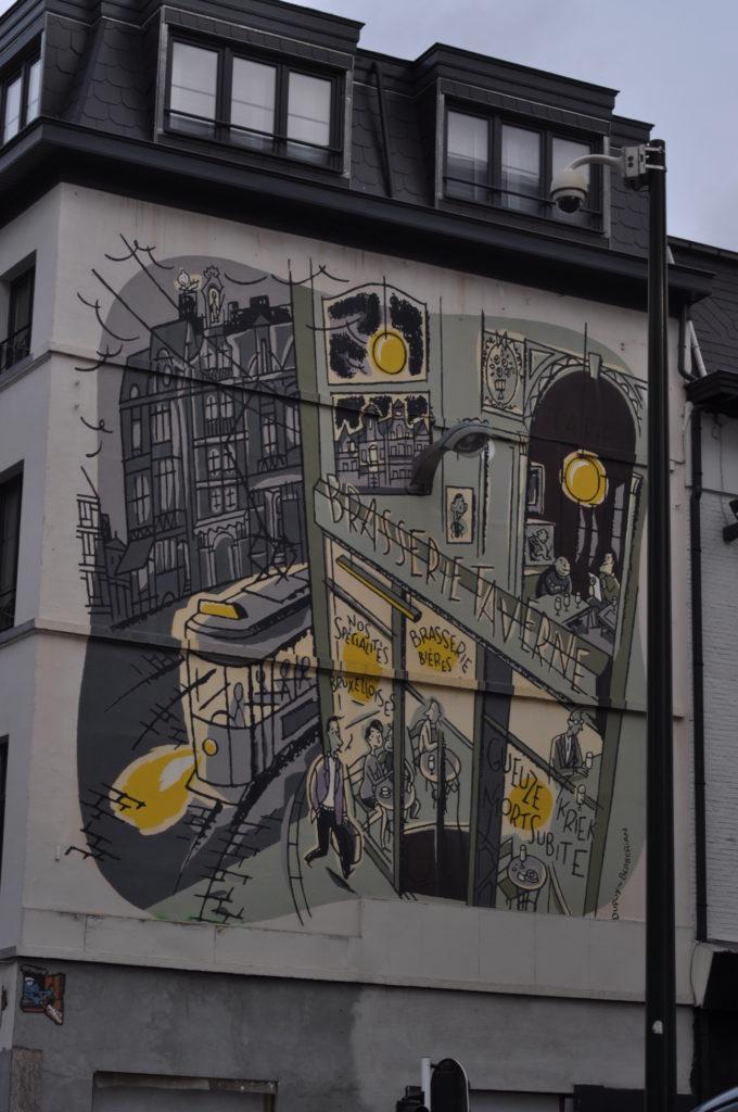 Fresque murale Monsieur Jean