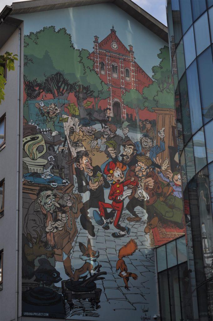 Fresque murale Spirou