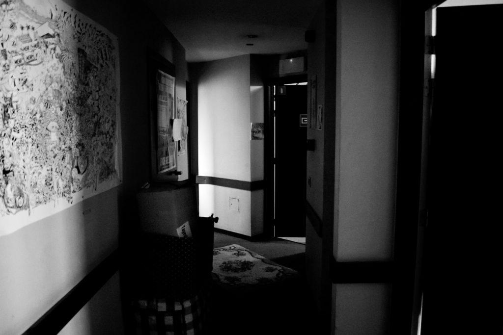 Les couloirs du 2ème étage de l'hotel