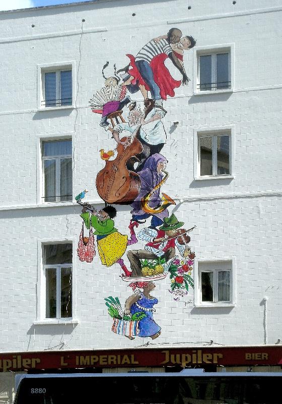 Fresque murale de Judith Vanistendael