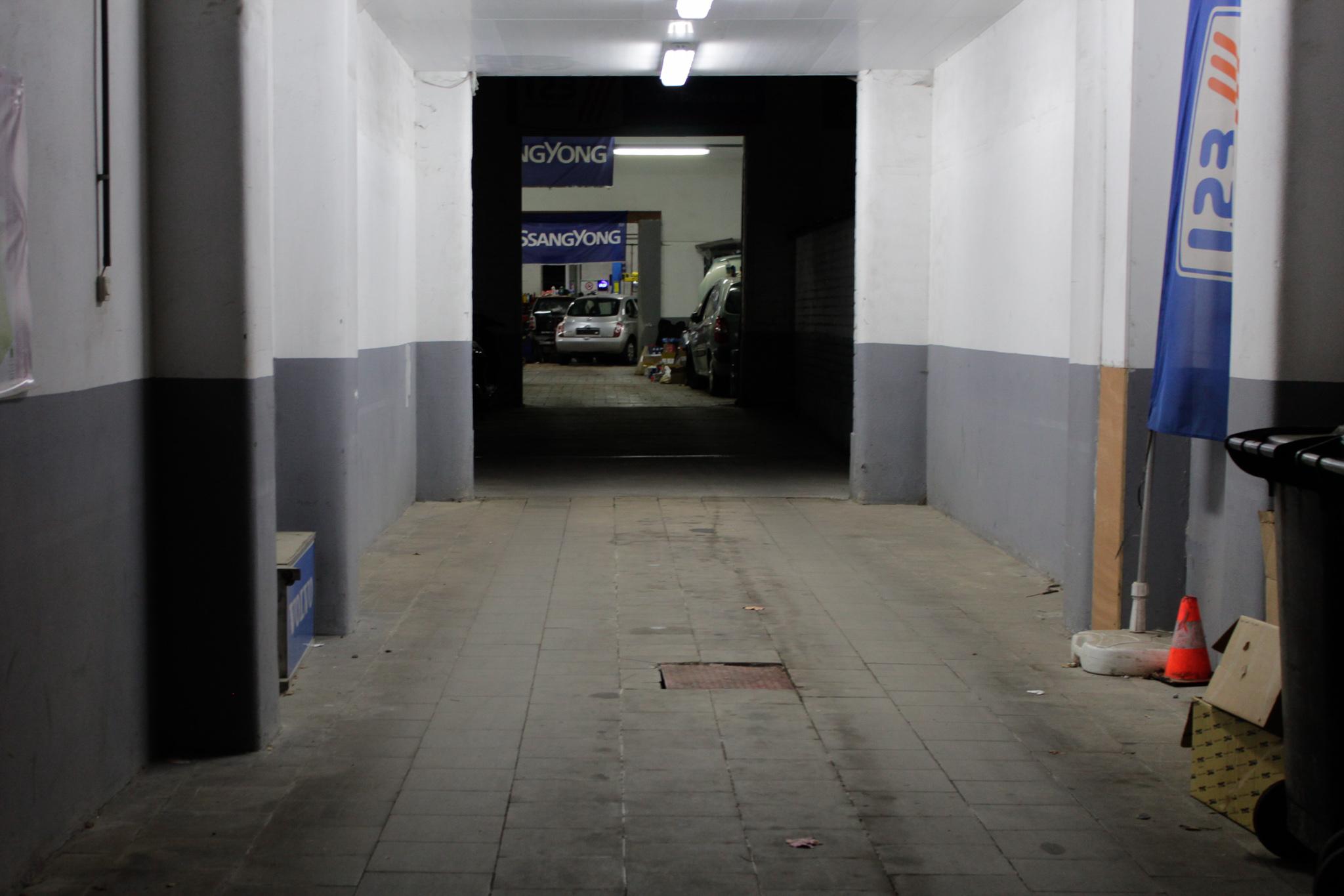 Entrée du garage Boetendael à Uccle