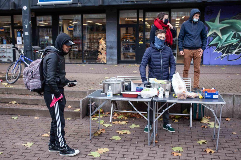 Action de la Brigade solidarité populaire Namur