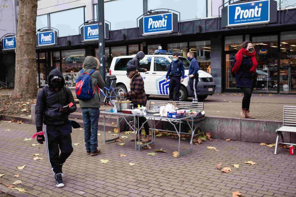 Contrôle de police, action à Namur