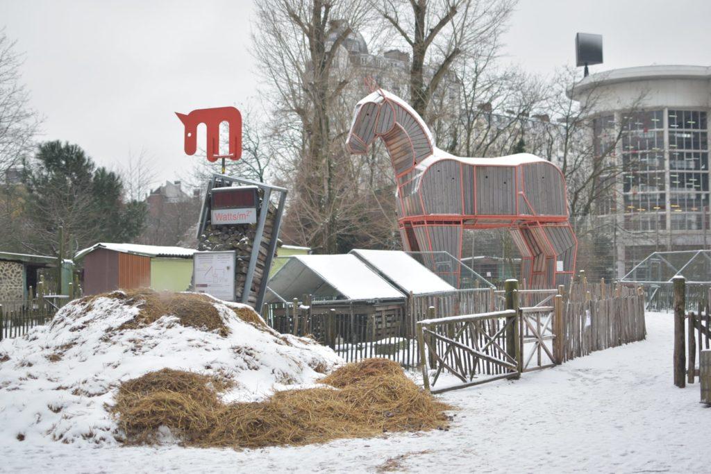 Vue d'ensemble de la ferme pédagogique du Parc Maximilien